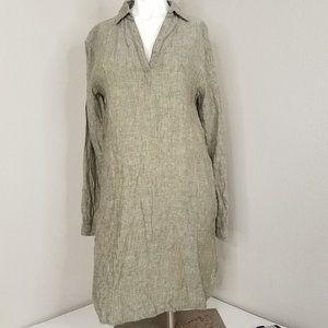 Cynthia Rowley 100% Linen Tunic Blouse